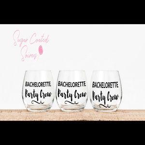 Bachorelette Party Custom Stemless Wine Glasses